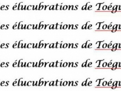 Elucubrations power…